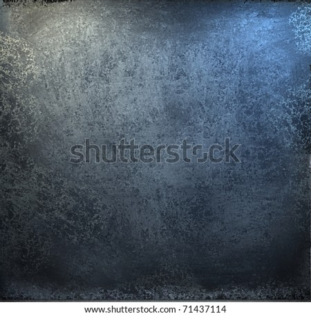 grunge blue and black  background with soft lighting and burnt edges - stock photo
