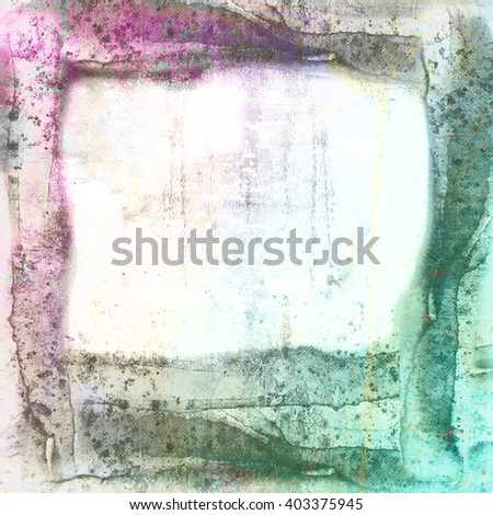 Grunge blue and magenta frame borders background - stock photo