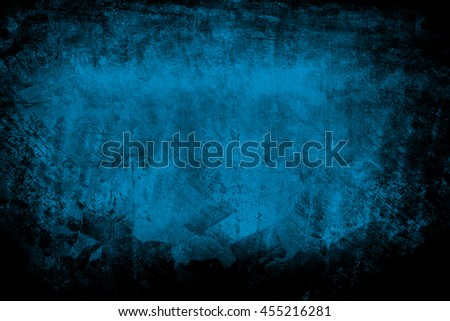 grunge blue paint background - stock photo