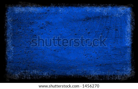 Grunge Blue Textured background - stock photo