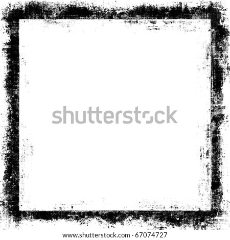 Grunge Border Frame With White Copyspace - stock photo