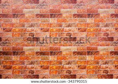 Grunge brick tile texture of decorative floor - stock photo
