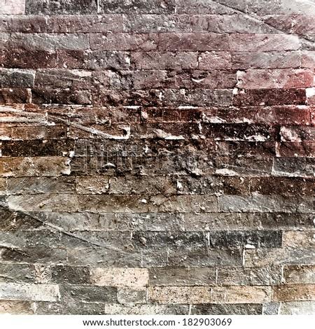 grunge brick wall - stock photo