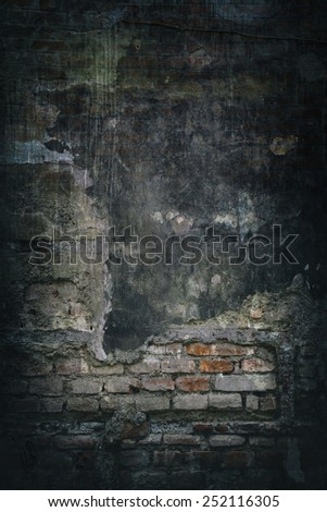 grunge brick wall for background. - stock photo