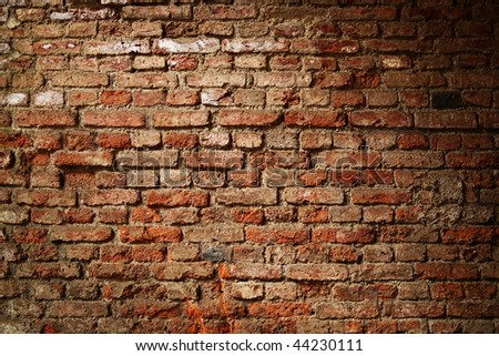 Grunge brick wall texture - stock photo