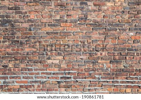 grunge brick wall using as background