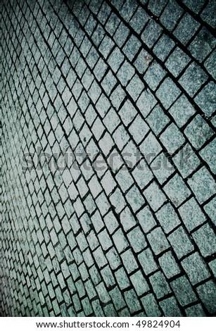 grunge bricks, close-up - stock photo