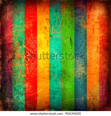 Grunge bright background with stripes - stock photo