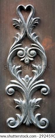 grunge, bronze sculpture - stock photo