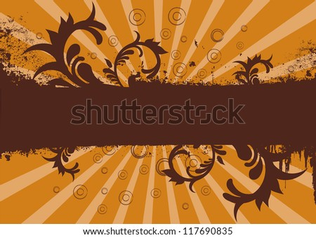Grunge brown and orange background or site banner