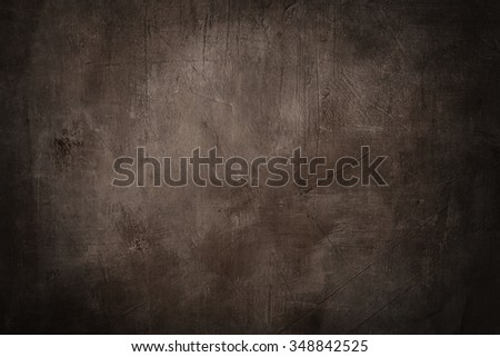 grunge brown background or texture with dark vignette borders - stock photo