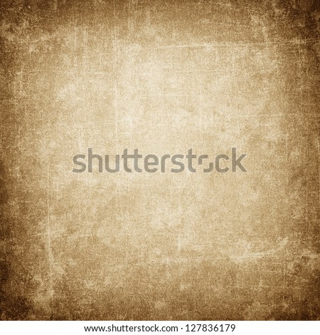 Grunge brown background with space for text - stock photo