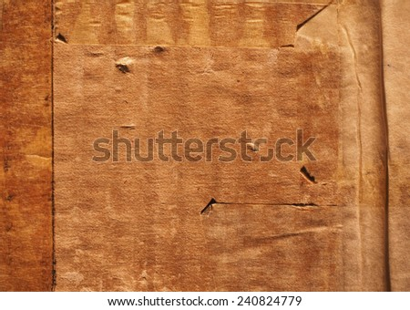 Grunge brown corrugated cardboard useful as a background