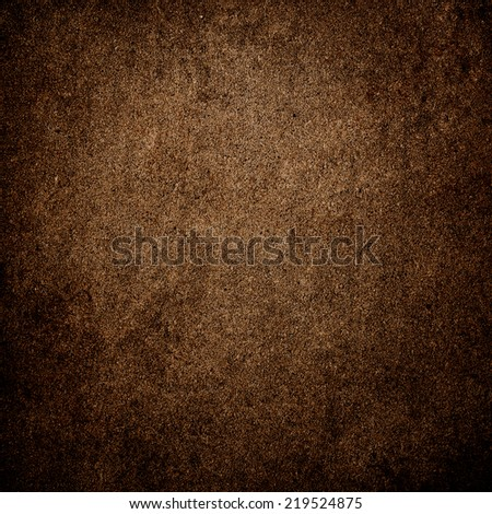 Grunge brown wall background or texture