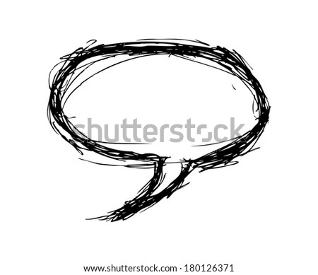 grunge bubble speech - stock photo