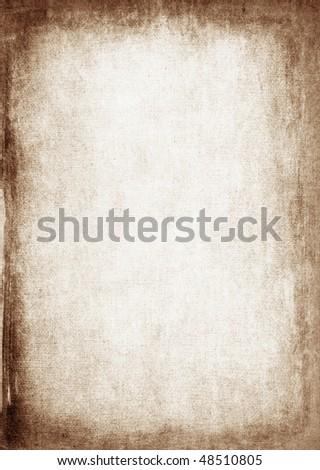 Grunge canvas texture - stock photo