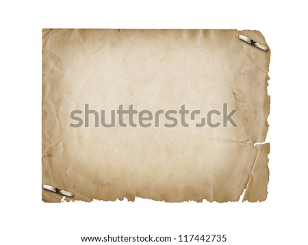 Grunge carved postcard on the white isolated background