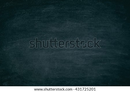Grunge Chalk rubbed out with chalk traces for background. texture black board for add text or graphic design. - stock photo