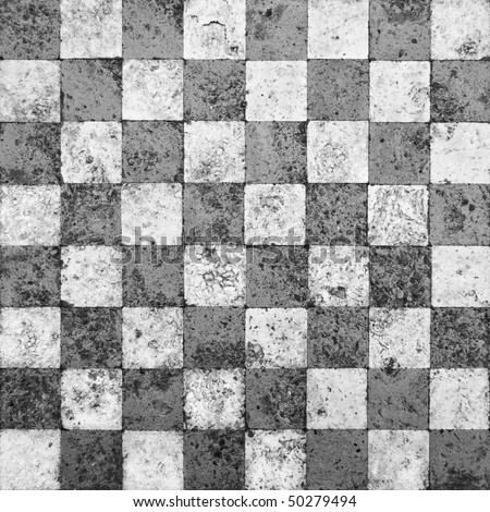 Grunge Checkerboard Mosaic - stock photo