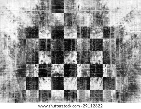grunge checkered flag - stock photo