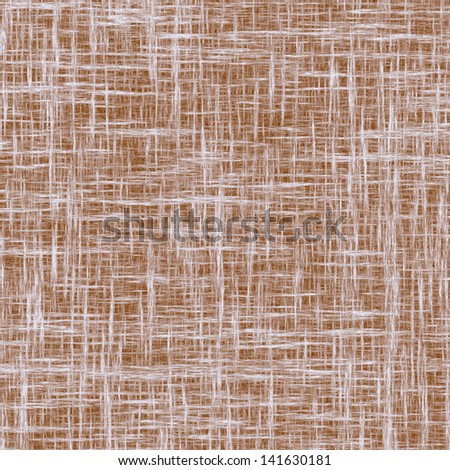 Grunge checkered weave cloth background in brown and white colors - stock photo