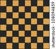 Grunge chessboard background. Raster version - stock photo
