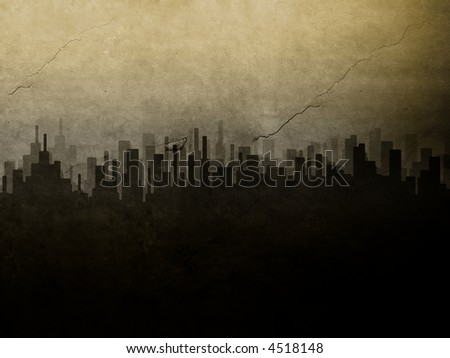 Grunge City - stock photo