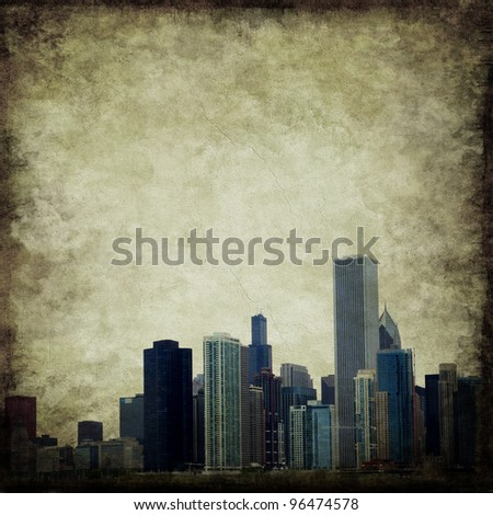 Grunge city skyline. Useful for background