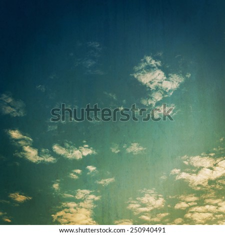 grunge clouds vintage background and texture. - stock photo