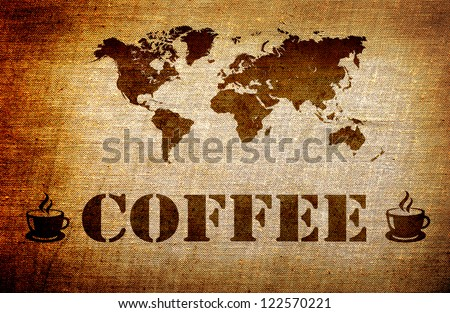 Grunge coffee background - stock photo