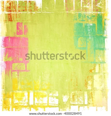 Grunge color texture background. yellow, red, green. - stock photo