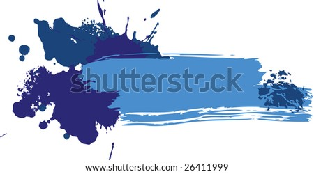 grunge colored banner with blots