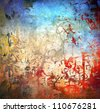 Grunge colorful background, blue and red color - stock photo
