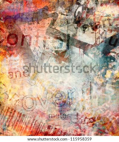 Grunge colorful background, graffiti wall - stock photo
