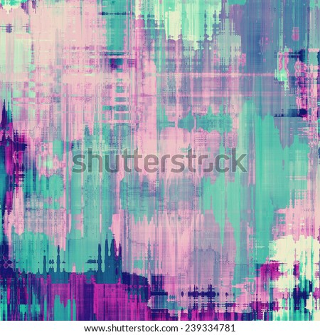Grunge colorful background or old texture for creative design work. With different color patterns: purple (violet); green; blue - stock photo