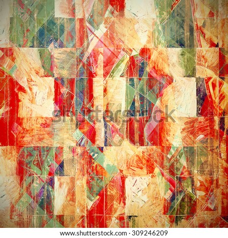 Grunge colorful background. With different color patterns: yellow (beige); red (orange); green; pink - stock photo