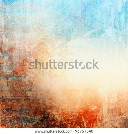 Grunge colorful texture, blue and red color - stock photo