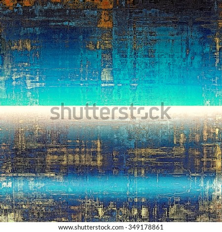 Grunge colorful texture for retro background. With different color patterns: yellow (beige); brown; blue; green