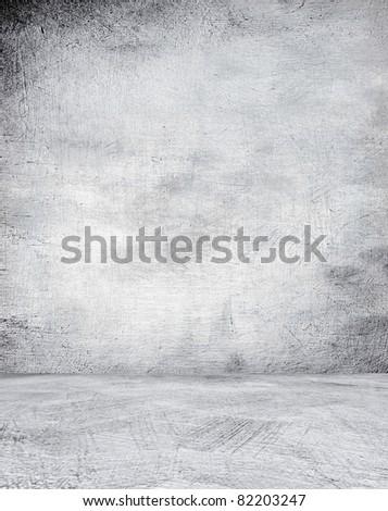 Grunge concrete interior. - stock photo