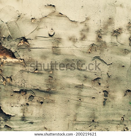 Grunge Concrete Scratched Wall, Vintage toning - stock photo