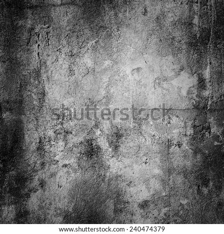 grunge concrete wall background with vignette - stock photo