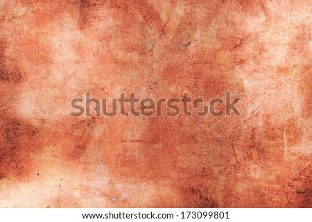 Grunge copper abstract background - stock photo