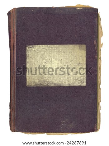 Grunge cover for an book or album with patch - stock photo
