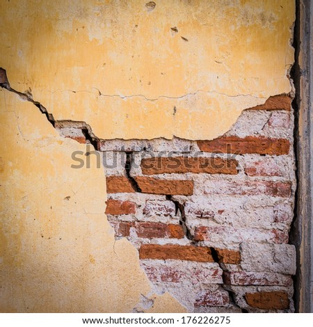 grunge crack cement wall for background