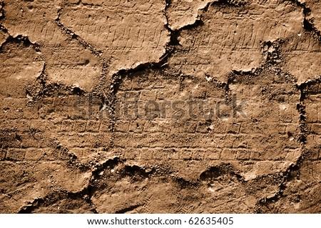 Grunge Crack Dirt Road Background Texture - stock photo