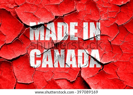 Grunge cracked Made in canada