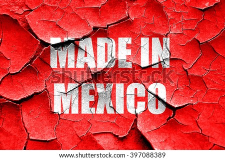 Grunge cracked Made in mexico