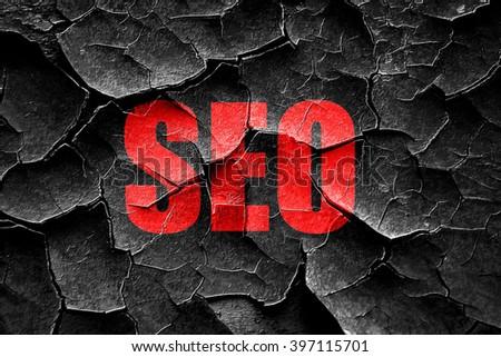 Grunge cracked Search engine optimalization - stock photo