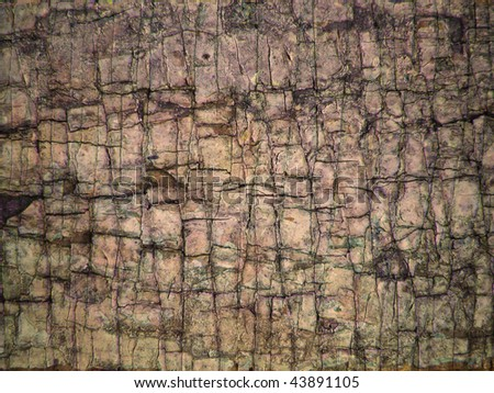 grunge cracked surface background - stock photo