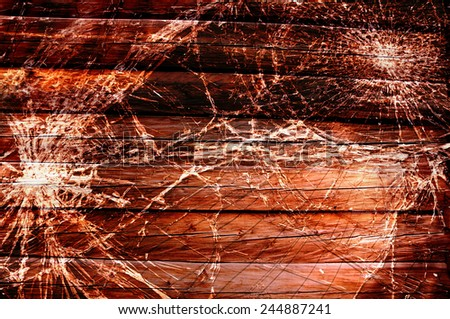 Grunge cracked wood texture - stock photo